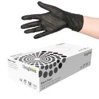 UNIGLOVES BLACK PEARL NITRILO GLOVES (100 UN)