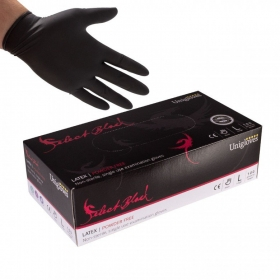 Luvas Unigloves Select Black Latex sem pó (100un)